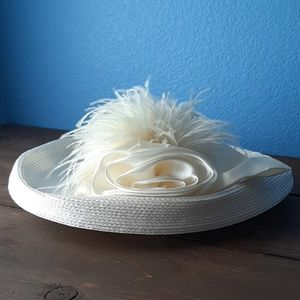 Southern Ivory Rose Front Hat
